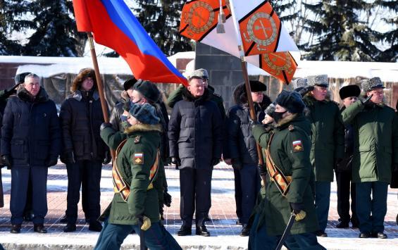 В Курске состоялась церемония возложения венков и цветов