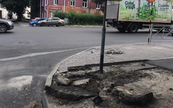 Когда закончится ремонт тротуаров на Дзержинского